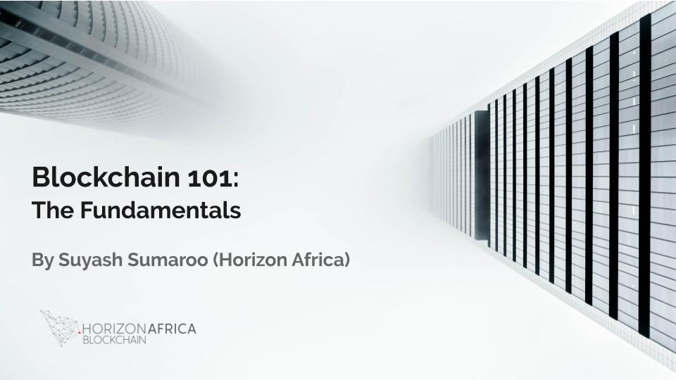 Horizon Africa Blockchain Fundamentals Course