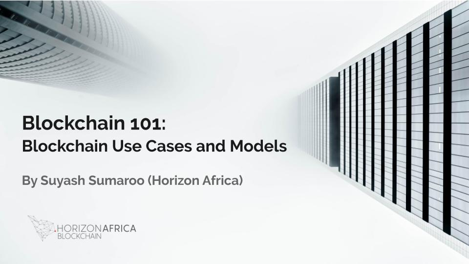 Horizon Africa Blockchain Use Cases and Models