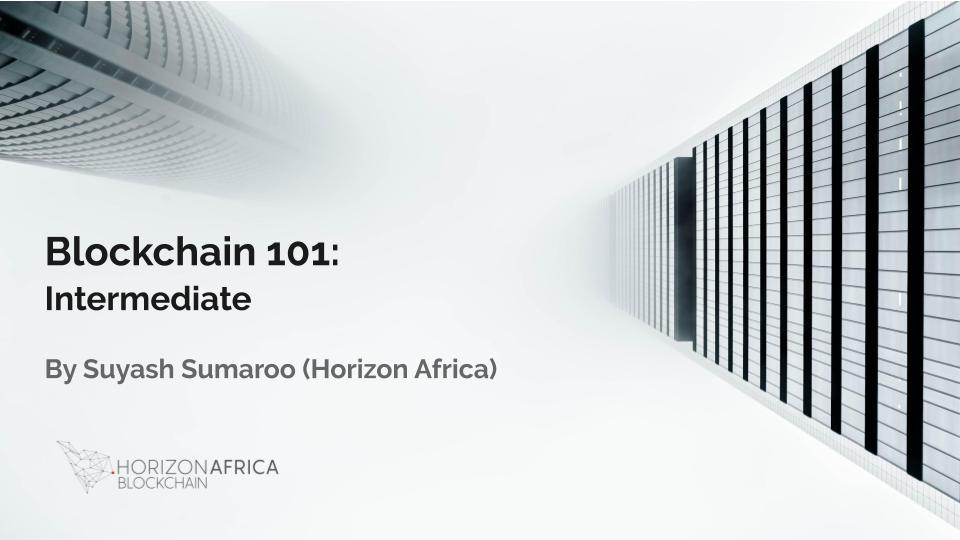 Horizon Africa Blockchain Course